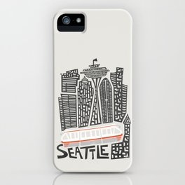 Seattle Cityscape iPhone Case