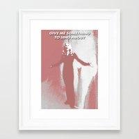 buffy the vampire slayer Framed Art Prints featuring Buffy the Vampire Slayer - OMWF by Laura
