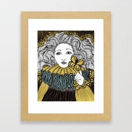 Girl and the Butterfly Framed Art Print
