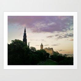 Dusk on Edinburgh Art Print