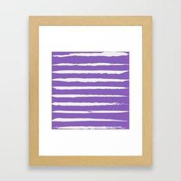 Irregular Hand Painted Stripes Purple Framed Art Print