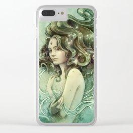 Zodiac Aquarius Clear iPhone Case