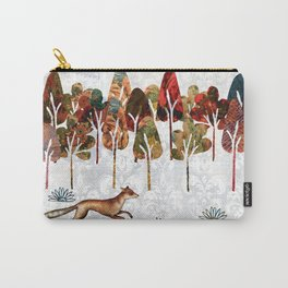 Fox in winter landscape Carry-All Pouch