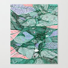 Drops in the Green Cell  Canvas Print
