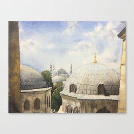 Blue mosque Canvas Print