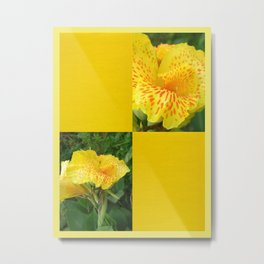 Yellow Canna Blank Design Metal Print