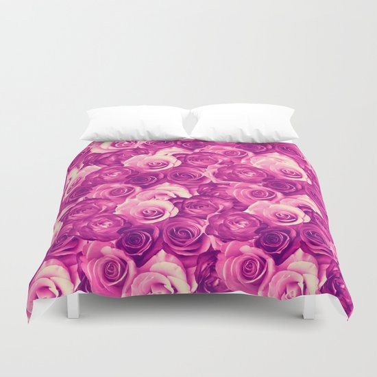 roses carpet in vintage tones Duvet Cover