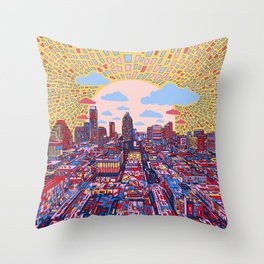 austin texas city skyline Throw Pillow
