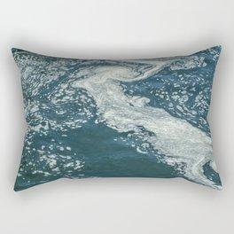 Water Foam Abstract Rectangular Pillow