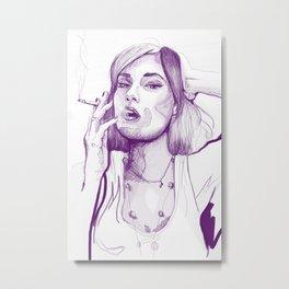 Sasha Grey Portrait Metal Print