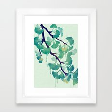 O Ginkgo (in Green) Framed Art Print