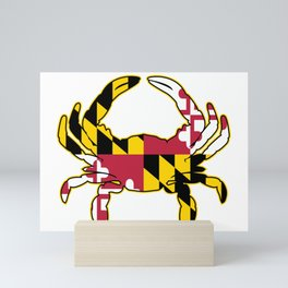 Maryland Flag Crab Mini Art Print