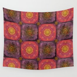 """""""Moroccan chess Strawberry & Purple Pattern"""" Wall Tapestry"""
