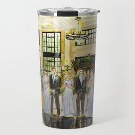 Courtney & Kyle Wedding Painting Travel Mug