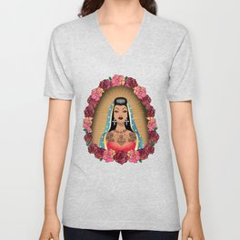 Chola Guadalupe Unisex V-Neck