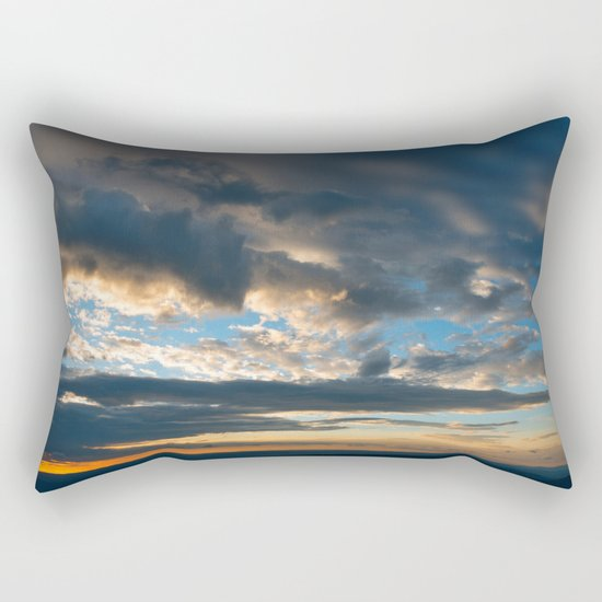 Vibrant Sunrise Cloudscape Rectangular Pillow