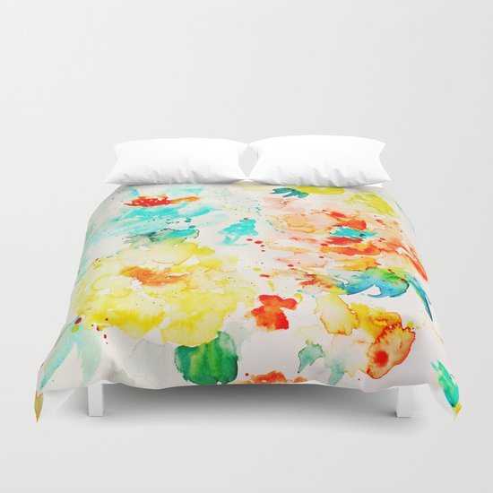 Abstract Flowers 05 Duvet Cover