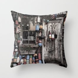 Fishing Shack Throw Pillow