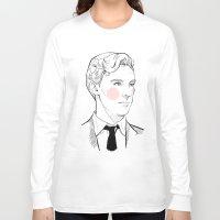 gentleman Long Sleeve T-shirts featuring Gentleman by Sara E. Mayhew