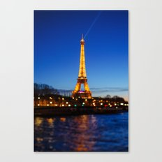 Eiffel Tower and Bokeh. Canvas Print