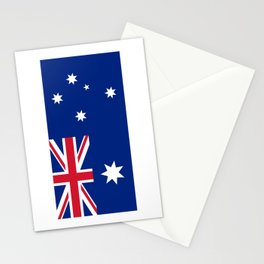 The National flag of Australia, authentic version (color & scale 1:2) Stationery Cards