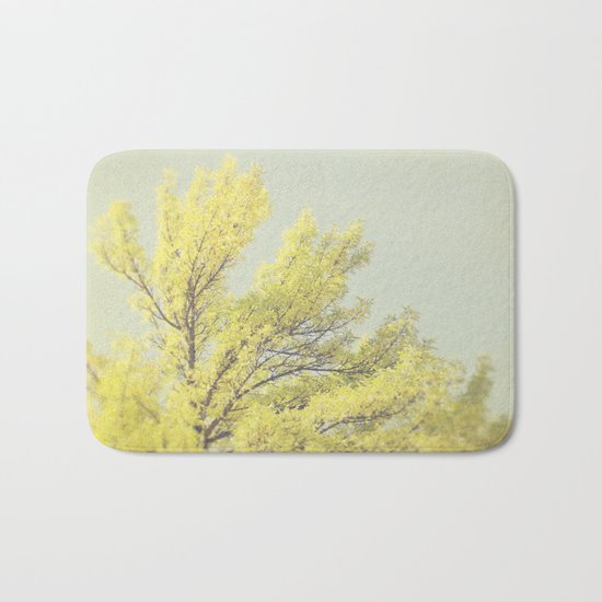 Yellow Tree Bath Mat