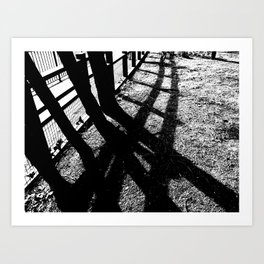 shadow trees Art Print