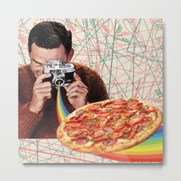 pizza obsession Metal Print