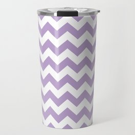 Lavender Chevron Pattern Travel Mug