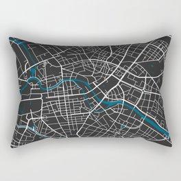 Berlin city map black colour Rectangular Pillow