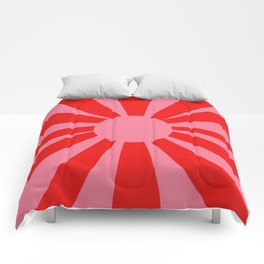 Pink Red Summer Sun Comforters