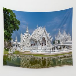 White Temple Thailand Wall Tapestry
