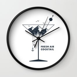 Fresh Air Cocktail Wall Clock