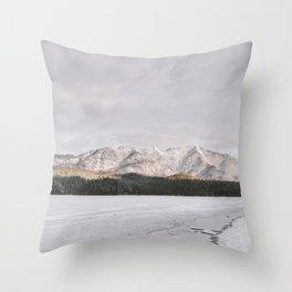 Frozen Lake Views - Landscape Photography Throw Pillow