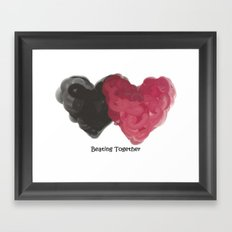 Beating Together Framed Art Print