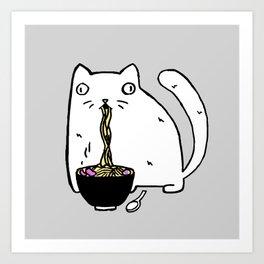 Rasabi Cat - Ramen Forever Art Print