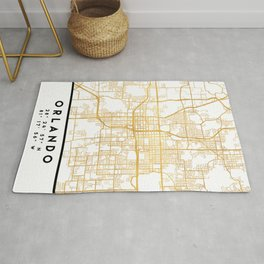 ORLANDO FLORIDA CITY STREET MAP ART Rug