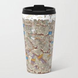 Illustrated map of Berlin-Mitte. Sepia Travel Mug