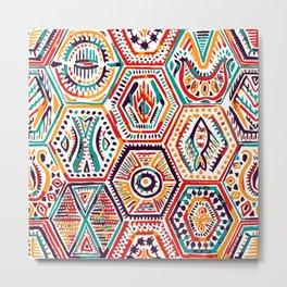 Ethinic Aztec hand drawn pattern Metal Print