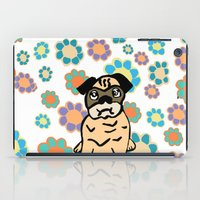 hippy iPad Cases featuring Hippy Pug  by lindseyclare