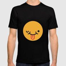 Emojis: Crazy face Mens Fitted Tee MEDIUM Black