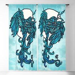 Blue Bird Blackout Curtain