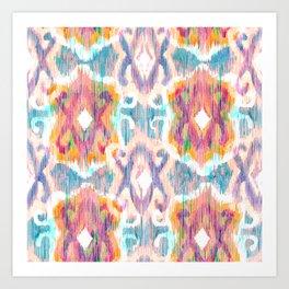 lollipop balinese ikat Art Print