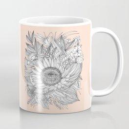 Protea Botanical Illustration Coffee Mug