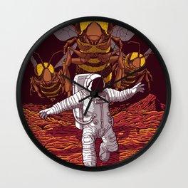 Killer bees on Mars. Wall Clock
