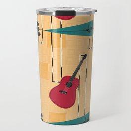 Mid Century Modern Guitar Travel Mug