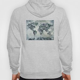 floral world map 2 Hoody