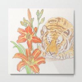 Tiger's Lily Dream Metal Print