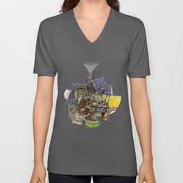 Up - Carl's House Cross-Section Unisex V-Neck