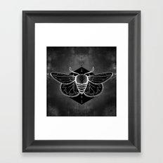 Moth Vignette Framed Art Print